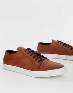 Светло-коричневые кожаные кеды Redfoot - Рыжий