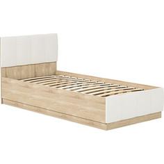 Кровать одинарная Моби Линда 01.60 дуб сонома/белый/кз белый Mobi