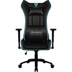 Кресло компьютерное ThunderX3 UC5 black-cyan air с подсветкой 7 цветов