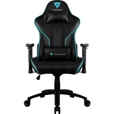 Кресло компьютерное ThunderX3 RC3 black-cyan air HEX с подсветкой 7 цветов