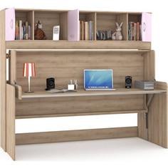 Стол-кровать Моби Ника 428 бук песочный/лаванда Mobi