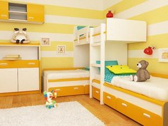 Детская двухъярусная кровать ДМ-167 BMS