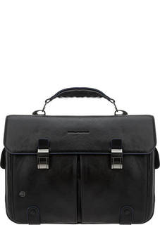 Портфель Кожаный портфель с двумя отделами Piquadro