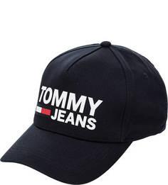 Бейсболка Хлопковая бейсболка с бархатным принтом Tommy Jeans