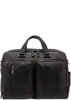 Сумка Кожаная сумка с двумя отделами Piquadro