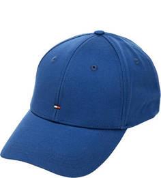 Бейсболка Синяя хлопковая бейсболка Tommy Hilfiger