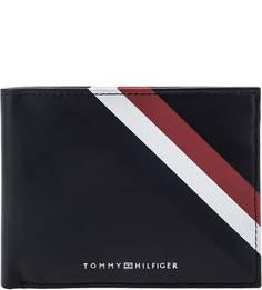 Портмоне Кожаное портмоне с двумя отделами для купюр Tommy Hilfiger