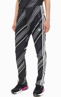 Брюки Зауженные черные брюки в спортивном стиле Adidas
