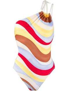Solid & Striped слитный купальник с принтом