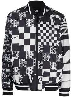 Nike куртка-бомбер в клетку
