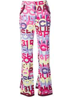 Chanel Vintage brand printed trousers