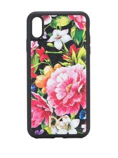 Dolce & Gabbana чехол с цветочным принтом для iPhone X