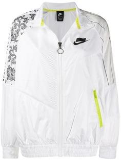 Nike куртка-бомбер с сетчатыми вставками