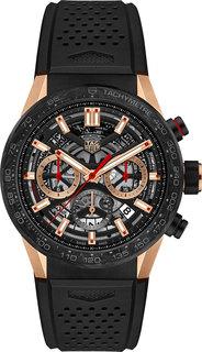 Швейцарские золотые мужские часы в коллекции Carrera Мужские часы TAG Heuer CBG2052.FT6143