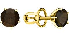 Серебряные серьги Серьги Aquamarine 4404001-S-g-a