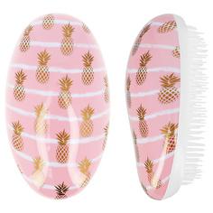 Расческа для волос LADY PINK массажная розовая с принтом