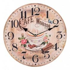 Настенные часы (34 см) Кофе с корицей 799-150