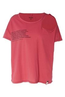 Красная футболка с прорезью One Teaspoon