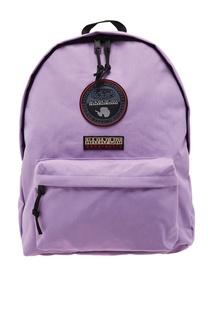 Сиреневый рюкзак с нашивками Napapijri