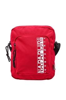 Красная тканевая сумка с логотипом Napapijri
