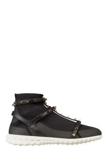Черные кроссовки Rockstud с отделкой Valentino