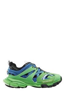 Сине-зеленые кроссовки Track Balenciaga