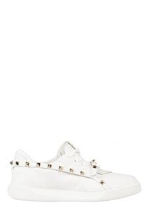 Белые кроссовки Rockstud Armor Valentino