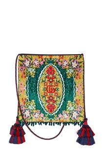 Жаккардовая сумка с цветочным узором Gucci
