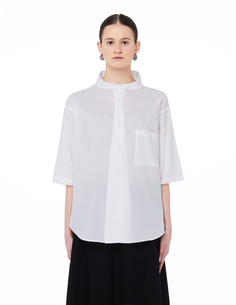 Белая блузка с коротким рукавом Ys