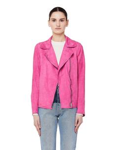 Розовая кожаная куртка-косуха Salvatore Santoro