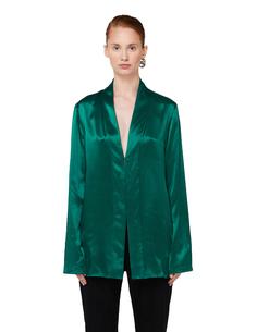 Зеленая шелковая блузка Haider Ackermann