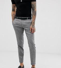Серые брюки с добавлением льна Heart & Dagger - Серый