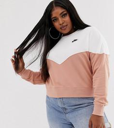 7f2f946a1eb1 Свитшот цвета розового золота Nike Plus - Розовый