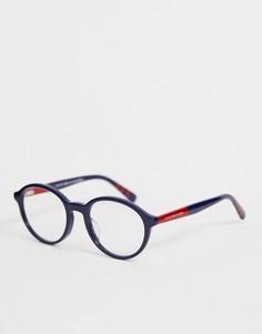 Круглые очки с прозрачными стеклами Tommy Hilfiger - Темно-синий