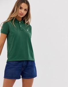Сетчатая футболка-поло Polo Ralph Lauren - Зеленый