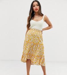 Ярусная юбка с цветочным принтом Vero Moda Petite - Мульти