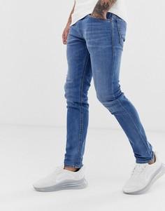 Светлые эластичные джинсы слим Diesel - Thommer 083AX - Синий