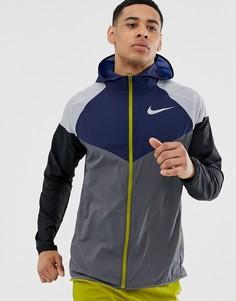 Разноцветная ветровка Nike Running - Серый