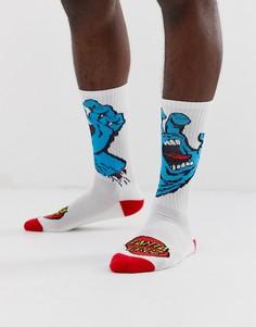 a0b7fd140950 Белые носки с принтом кричащая рука Santa Cruz - Белый