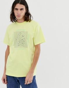Желтая футболка с принтом Carhartt WIP Grid C - Желтый