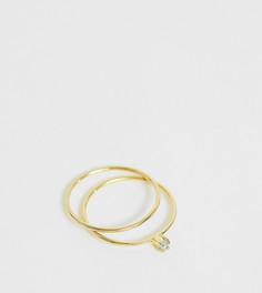 Набор из 2 серебряных позолоченных колец Kingsley Ryan - Золотой