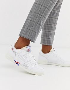 Белые кроссовки с векторным логотипом Reebok - Workout Plus Mu - Белый
