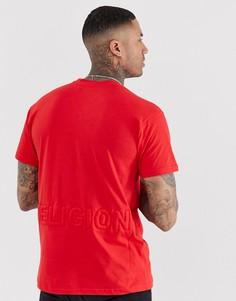 Красная свободная футболка с логотипом Religion - Красный
