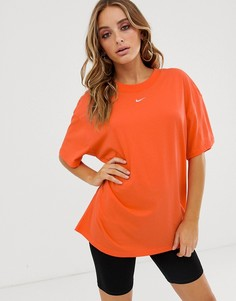 Оранжевая футболка бойфренда Nike - Оранжевый