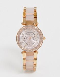 Часы цвета розового золота Michael Kors Mini Parker MK6110 - Золотой