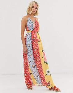 Платье макси с цветочным принтом Parisian - Мульти