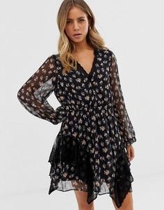 Платье с цветочным принтом Stevie May - Harmony - Черный