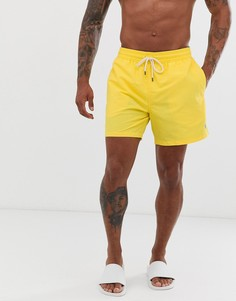 Желтые узкие шорты для плавания с логотипом Polo Ralph Lauren - Traveler - Желтый