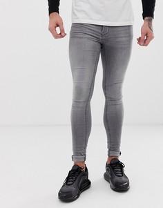 Серые супероблегающие джинсы Blend - Flurry - Серый