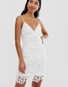Кружевное платье на бретелях Parisian - Белый